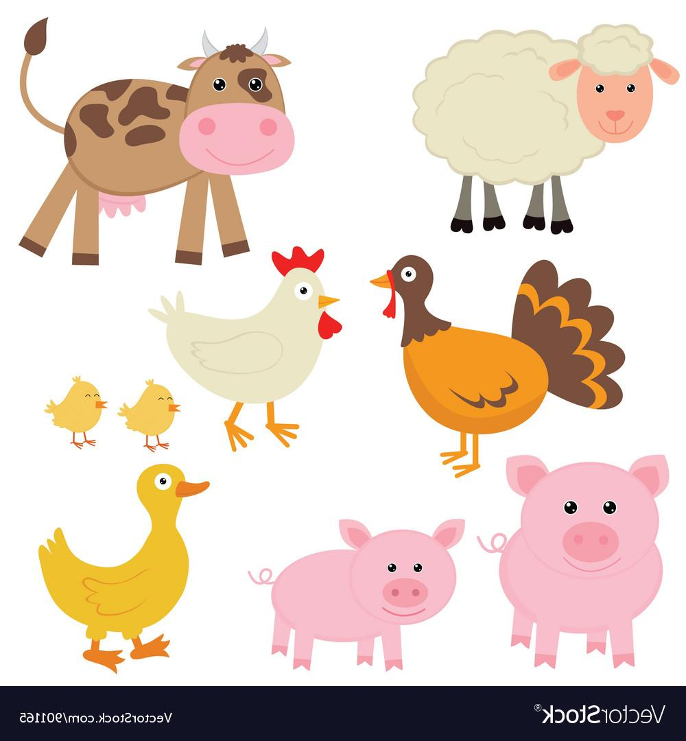 Best HD Cute Farm Animal Clip Art Image » Free Vector Art.