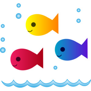 Cute School Fish Clipart.