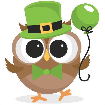 Irish Owl SVG scrapbook cut file cute clipart files for silhouette.