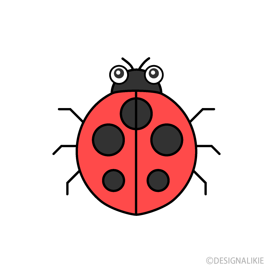 Free Cute Ladybug Clipart Image|Illustoon.