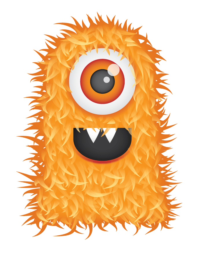 Cute Hairy Monster Clipart Picture Free Download.