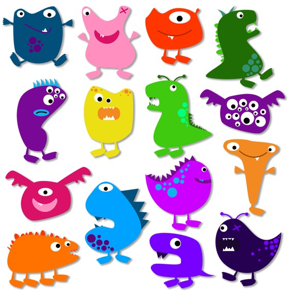 Cute Monster Clipart Free.