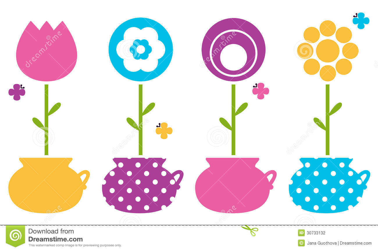 Cute Pot Clipart.