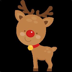 Cute Reindeer SVG scrapbook cut file cute clipart files for.