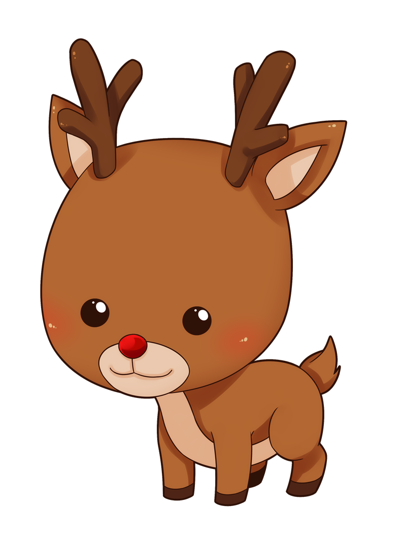 This cute and adorable baby reindeer clip art is great for use on.