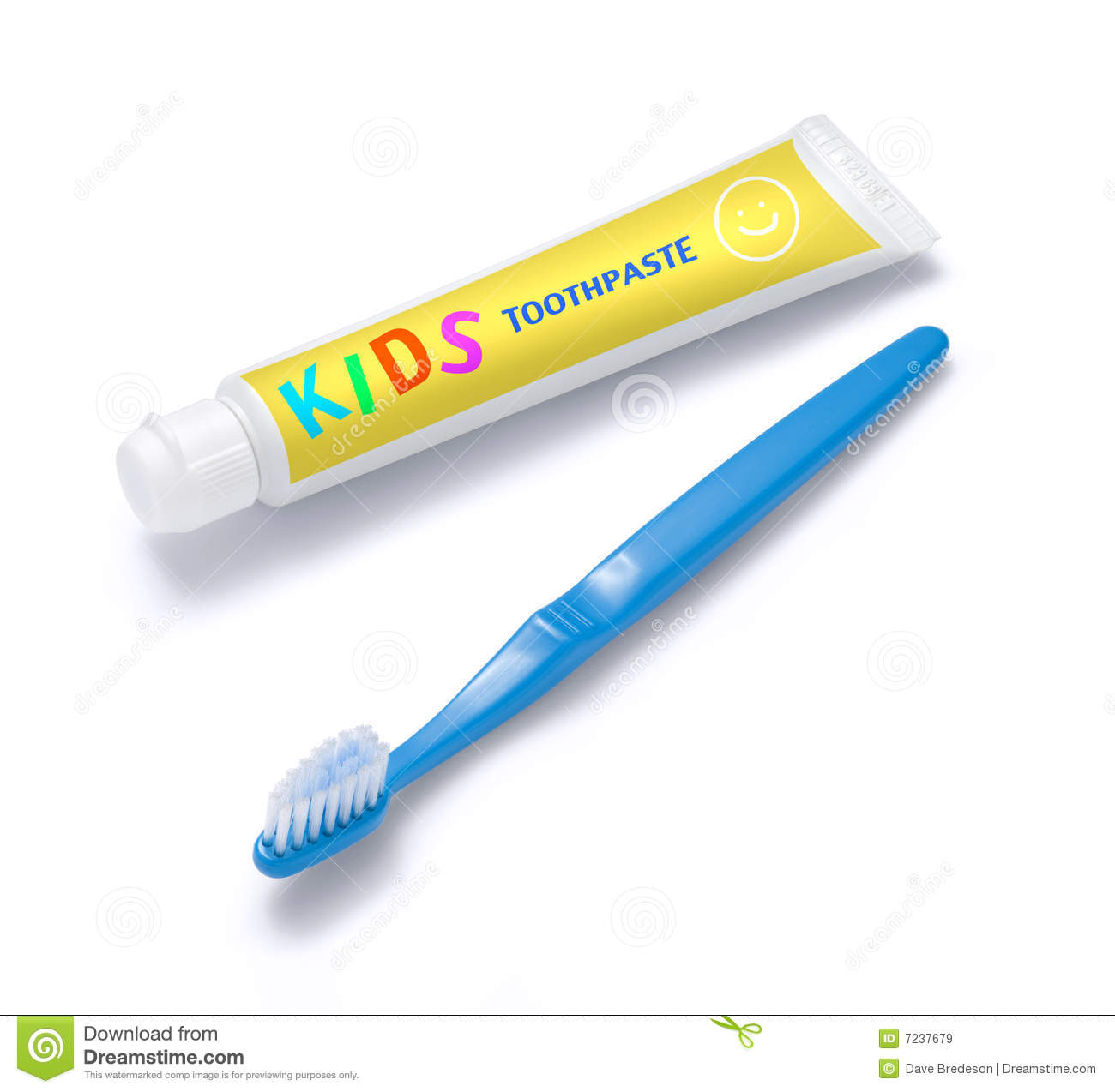 Kids Toothpaste And Toothbrush Royalty Free Stock Images.