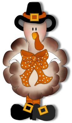 Free Cute Turkey Clipart.