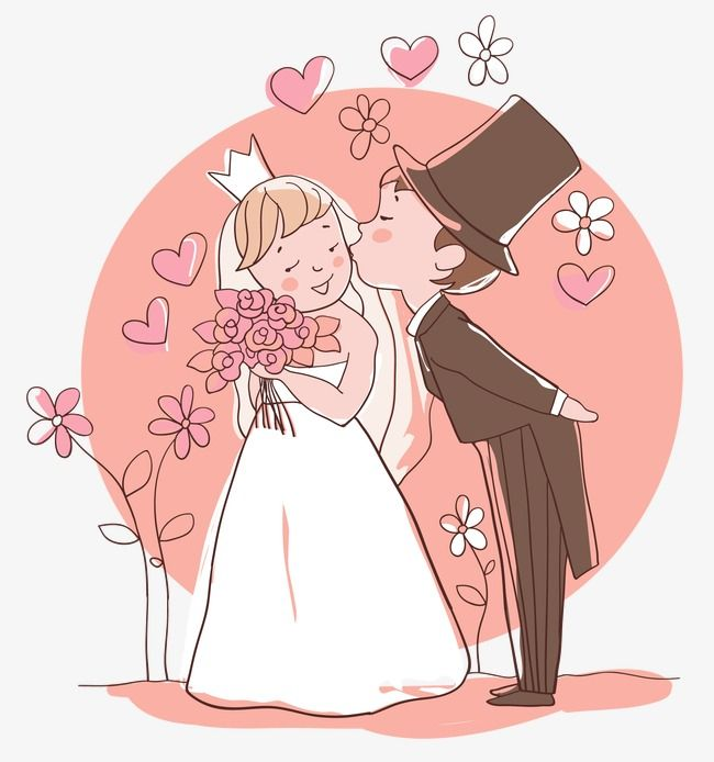 Wedding Couple, Wedding Doll, Cartoon Characters PNG.