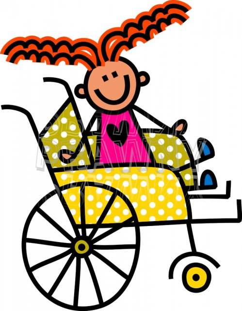 Free Cute Wheelchair Clipart.