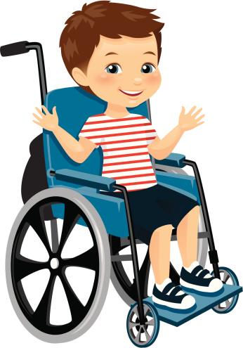 Wheelchair Kid Clip Art, Vector Images & Illustrations.