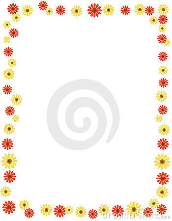 Daisy Border Clipart.