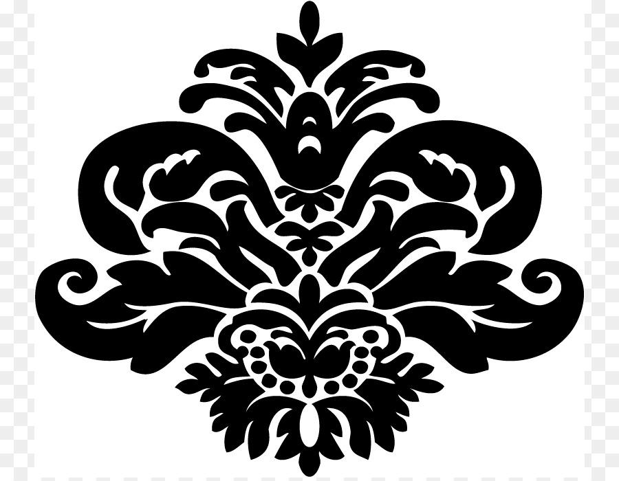 Damask Clip Art Black Background Png Download 800 695 Acceptable.