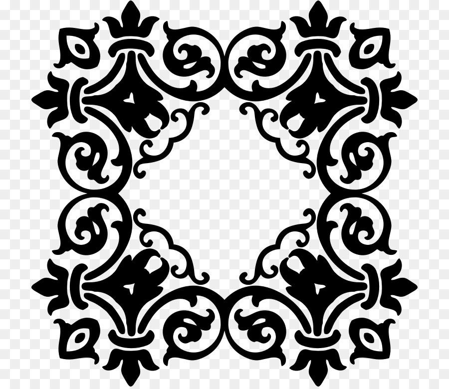 Damask Clip Art Invitation Pattern Png Download 776 Free Elegant.