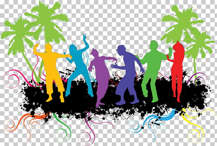 Dance party , dance contest PNG clipart.