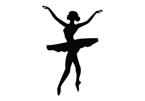 Free dancing silhouette vector clipart.