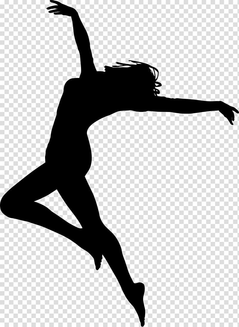 Free dance Silhouette Ballet Dancer, Silhouette transparent.