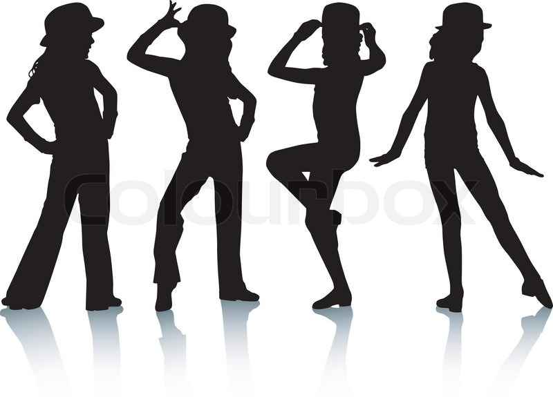 Dance Team Clipart Black And White.