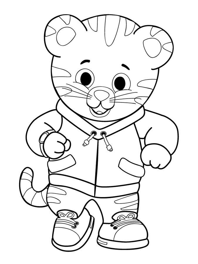 Free Daniel Tiger Coloring Page, Download Free Clip Art.