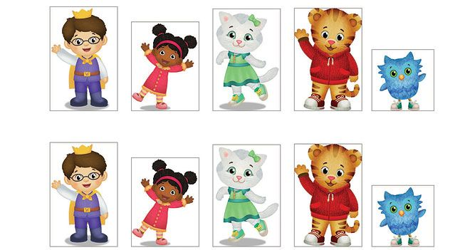 Daniel Tiger Stickers . Birthday Party Favors . PBS Parents.