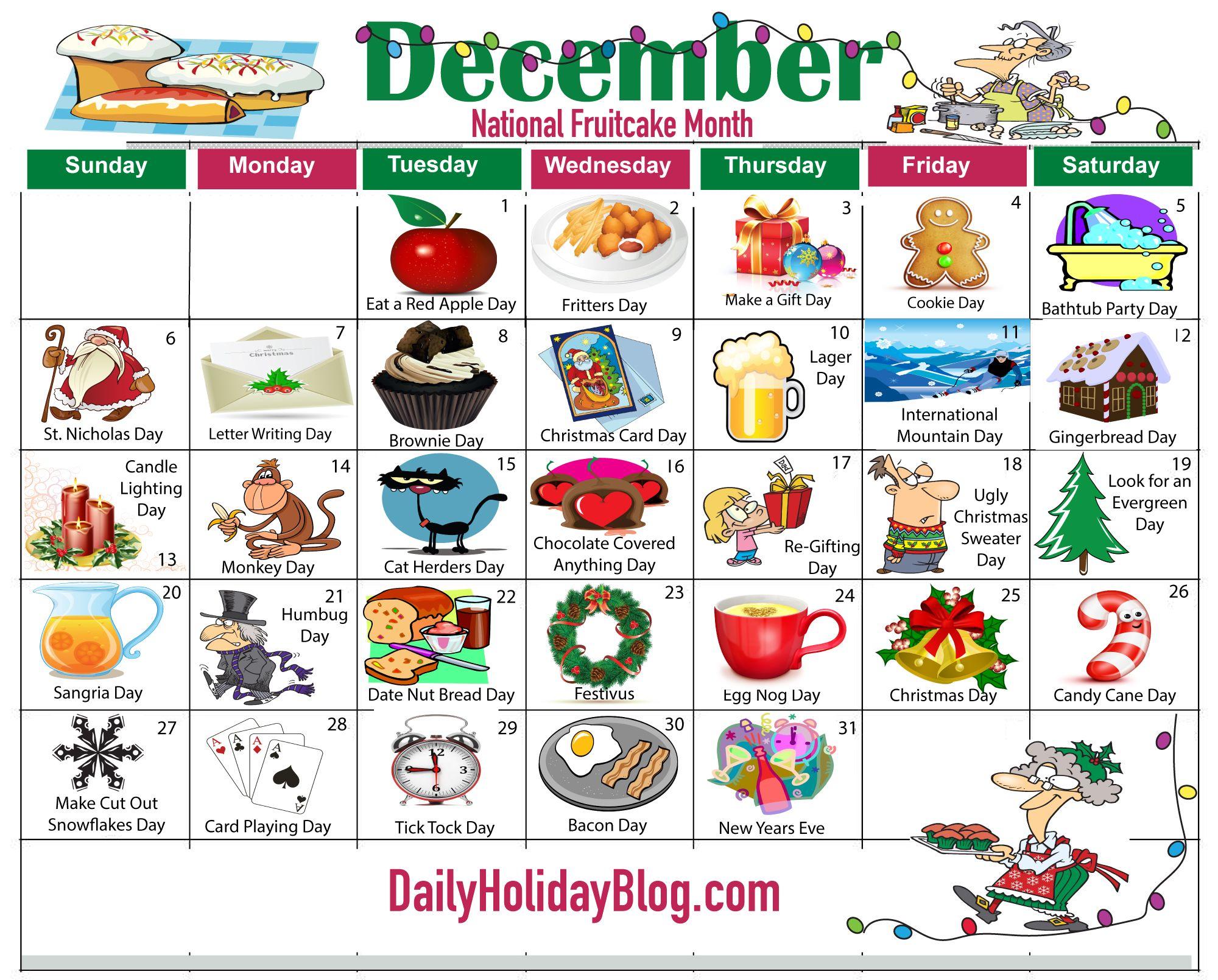 Upload your free December Holiday Calendar! ….