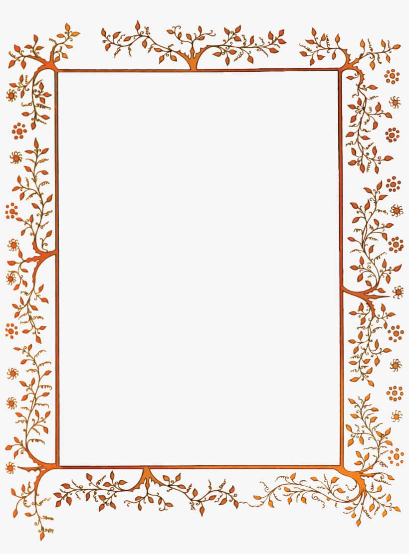 Free Clipart Of A Vintage Floral Decorative Border.