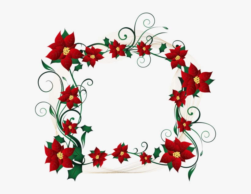 Christmas Decorative Border Transparent Png Clip Art.