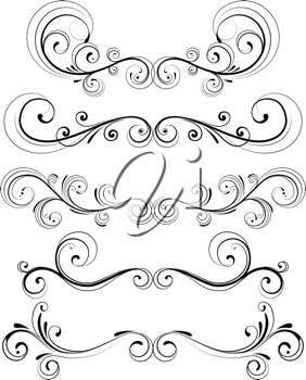 Royalty Free Clipart Image of Decorative Designs.