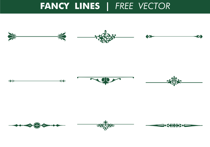 Decorative Fancy Lines Vector.