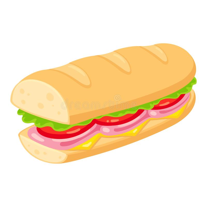 Deli Sandwich Stock Illustrations.
