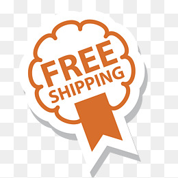 Free Shipping Orange Badge, Orange Badge #9864.