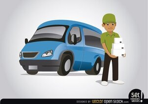 Free Delivery Van Cliparts in AI, SVG, EPS or PSD.