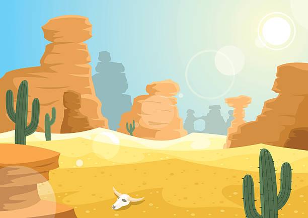 Desert Landscape Clipart.