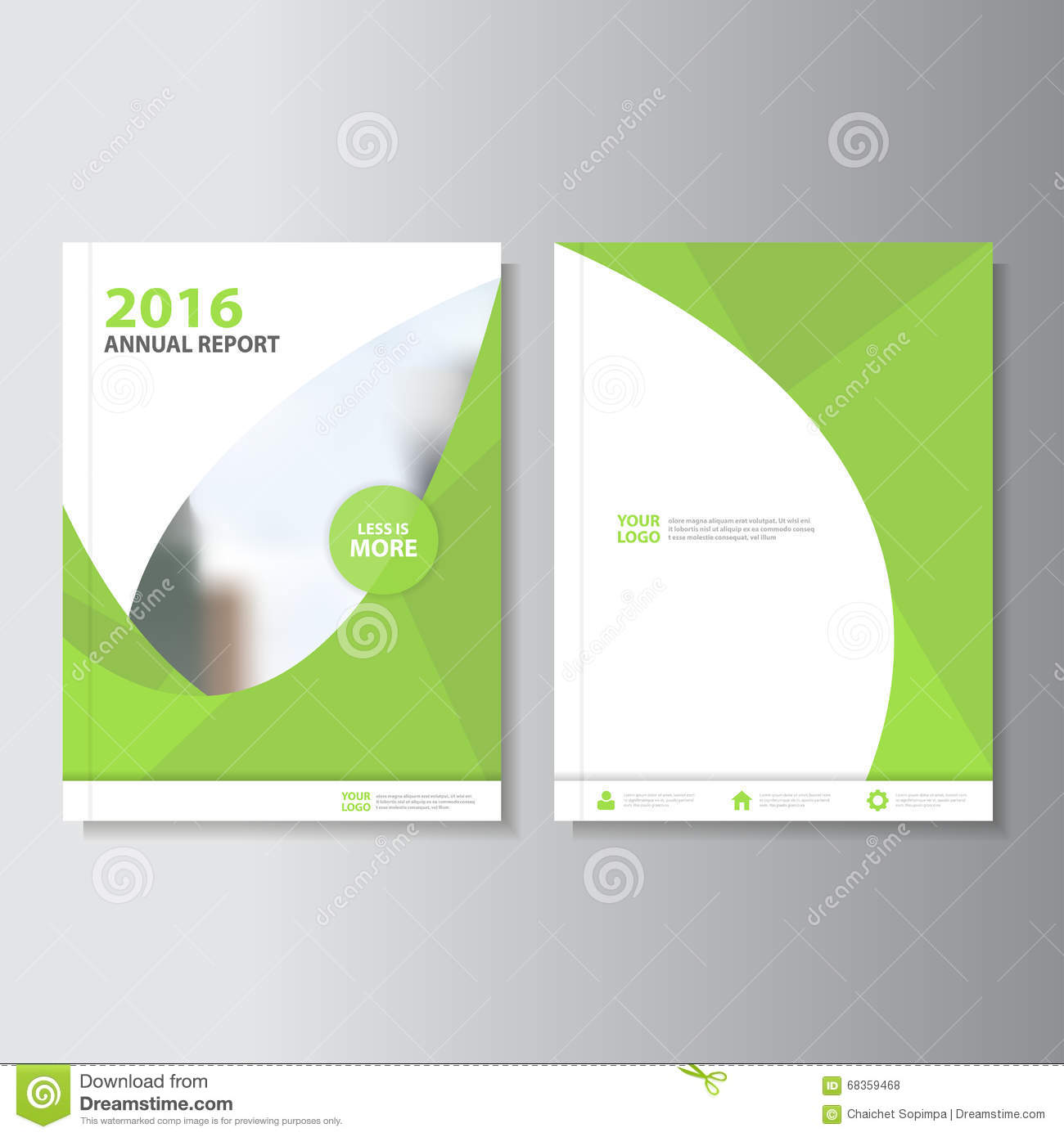 Red Vector Annual Report Magazine Leaflet Brochure Flyer Template.