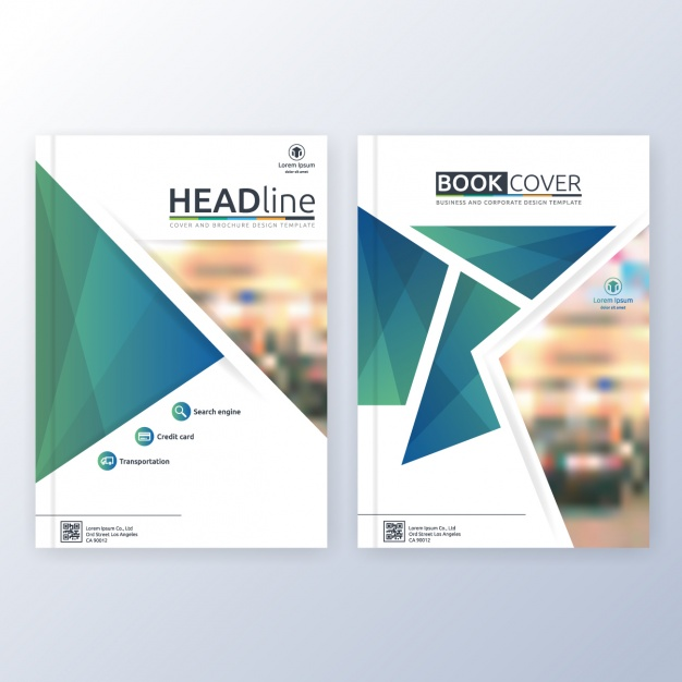 Book cover template design Vector.