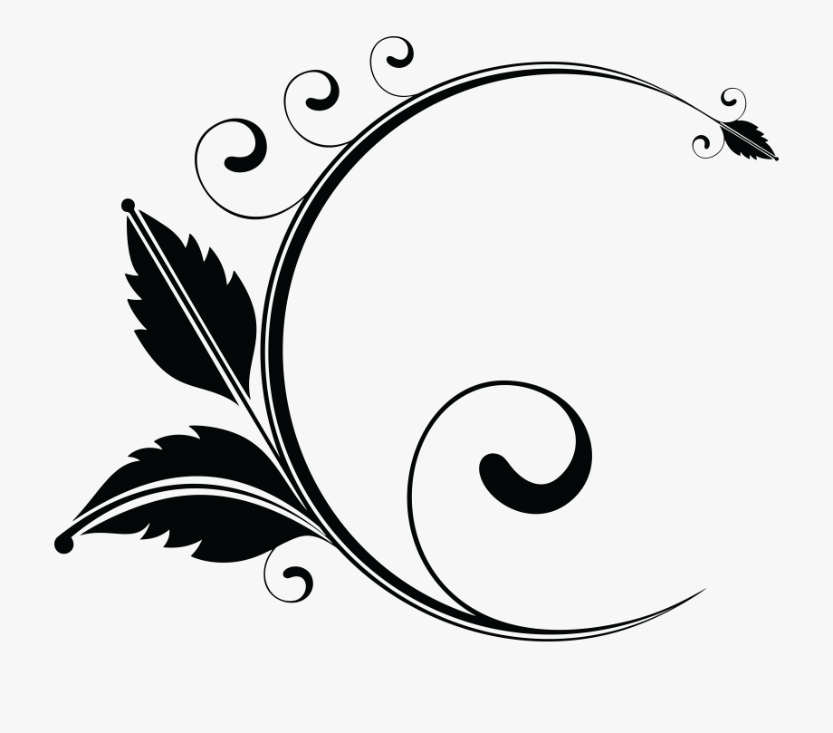Picture Free Download Floral Clipart Black And White.
