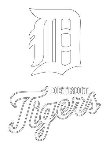 Detroit Tigers Logo coloring page.