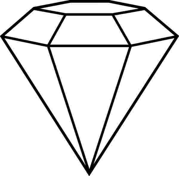 Best Coloring: Free Diamond Coloring Pages Drawings Of.