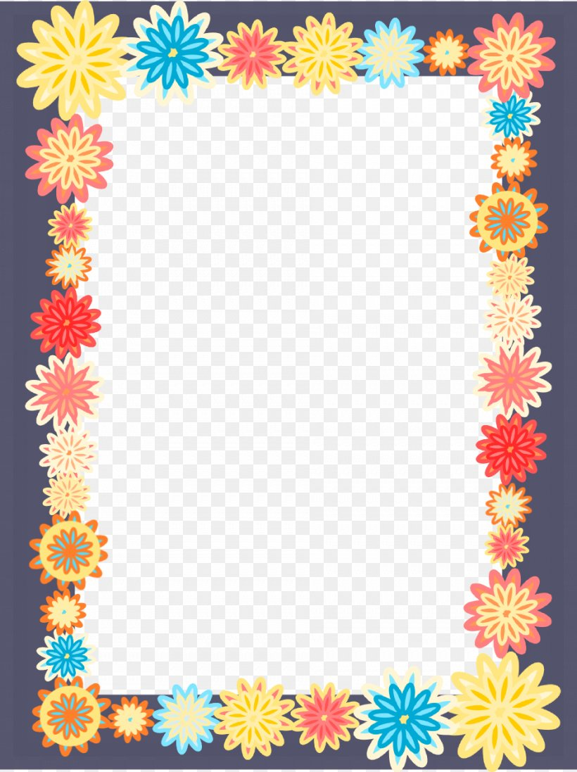 Picture Frames Colorful Flowers Android Clip Art, PNG.