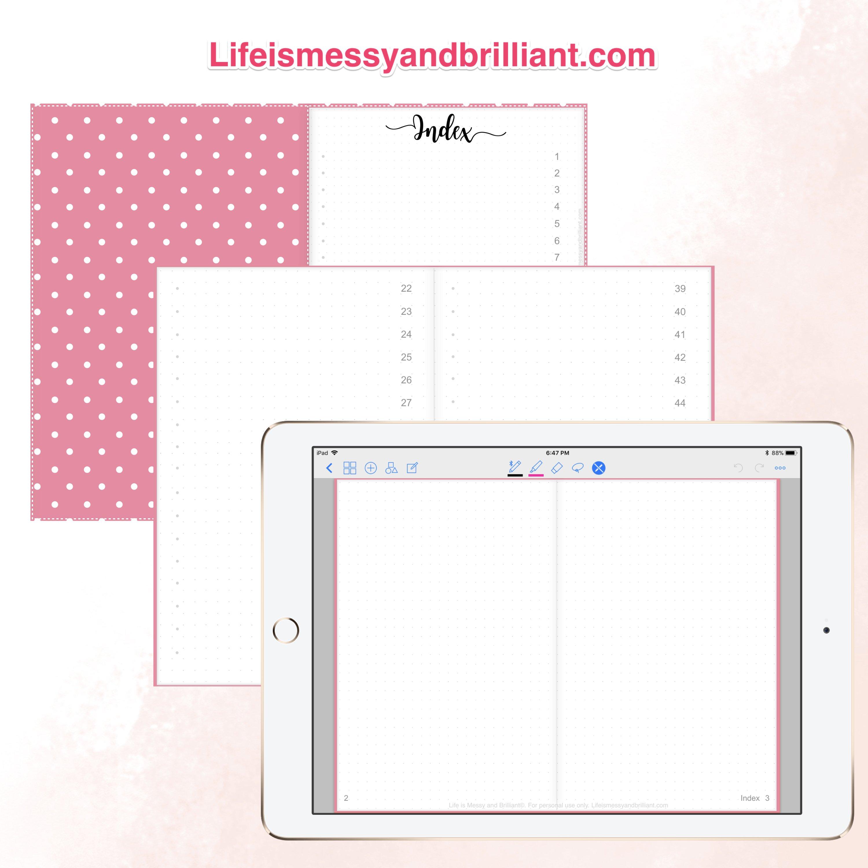 FREE Digital Planner with Hyperlinks.