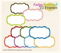 Free Digital Scrapbooking Frames.