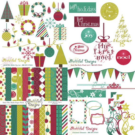 Free Christmas Digital Scrapbooking Kits.