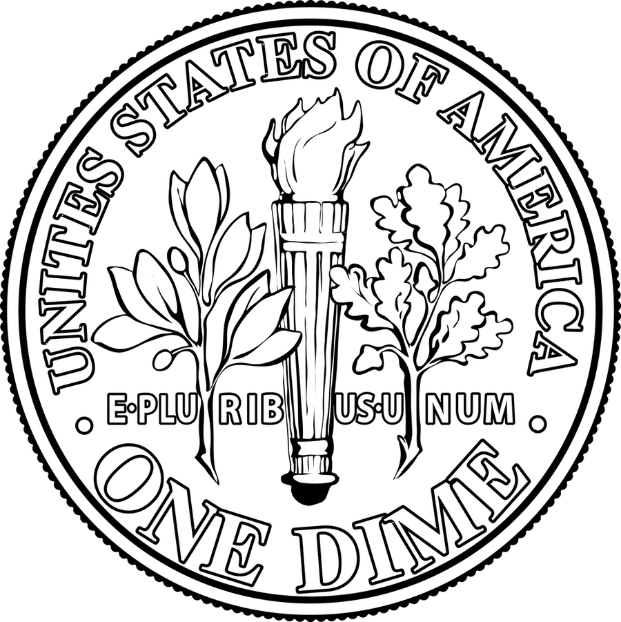 Download dime black and white clipart Dime Coin Clip art.