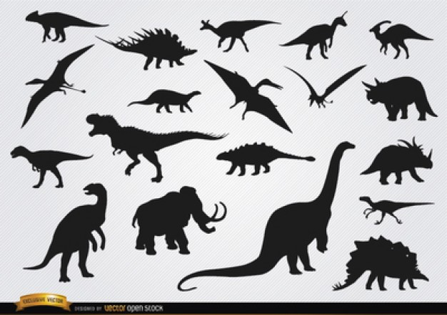 Dinosaur Silhouette Vectors, Photos and PSD files.