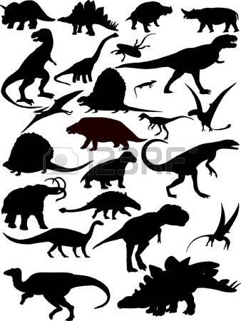 4,258 Dinosaur Silhouette Stock Vector Illustration And Royalty.