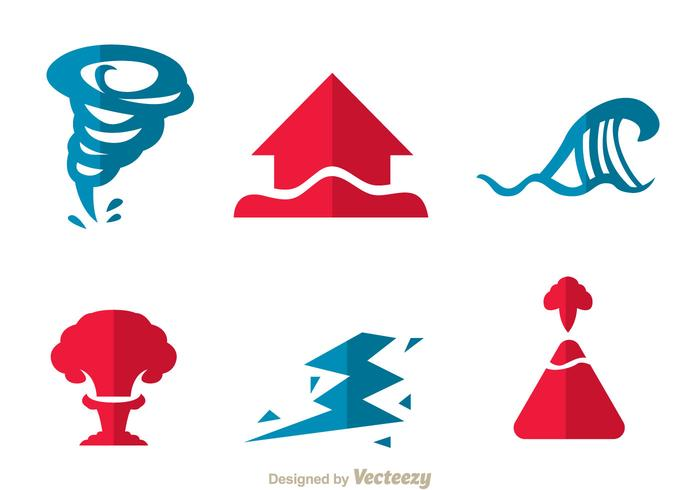Natural Disaster Icons.