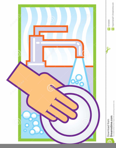 Washing The Dishes Clipart.