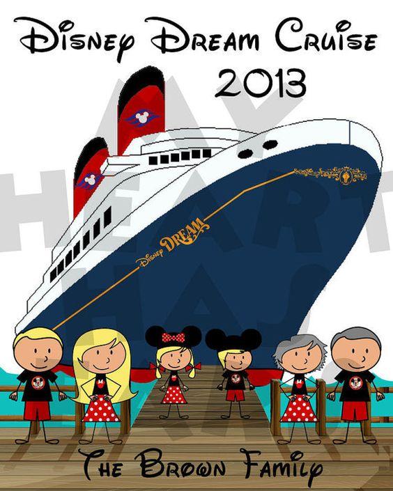 Printable Disney Cruise Dream Wonder Fantasy or by MyHeartHasEars.