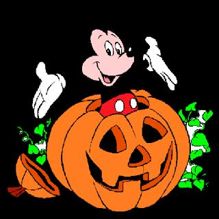 Halloween Disney Characters Clipart.