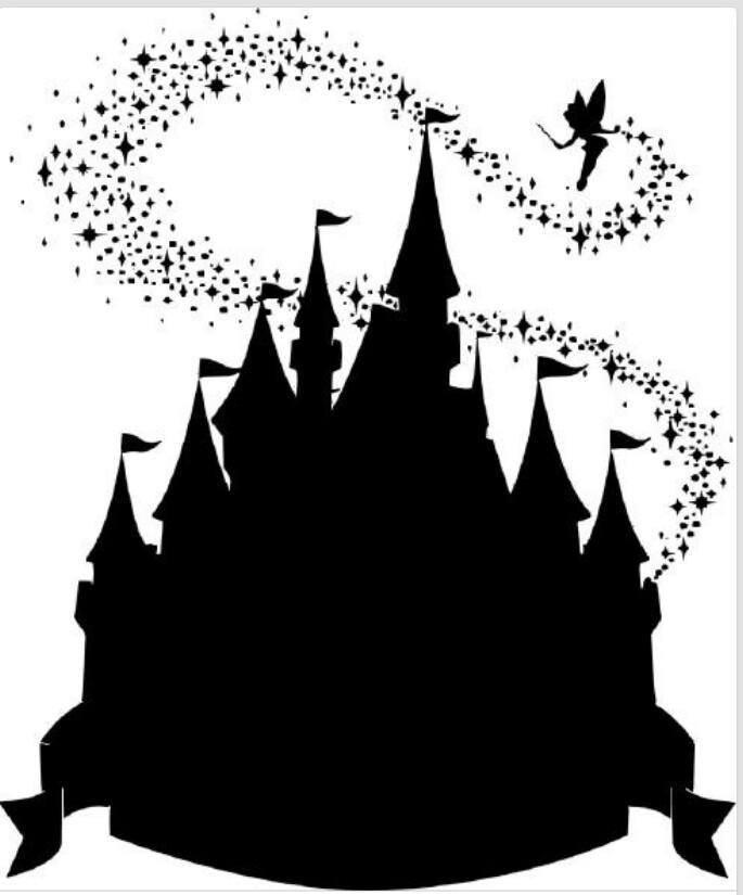 Disney castle silhouette.