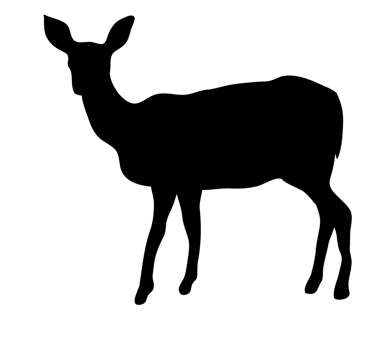 Free download Doe Silhouette Clipart for your creation..